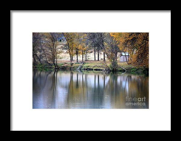 Fall Reflection Framed Print featuring the photograph Autumn Reflection 16 by Carol Groenen