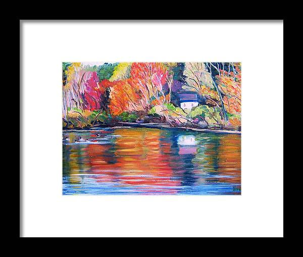 Autumn Framed Print featuring the painting Autumn Reflections by Richard Nowak