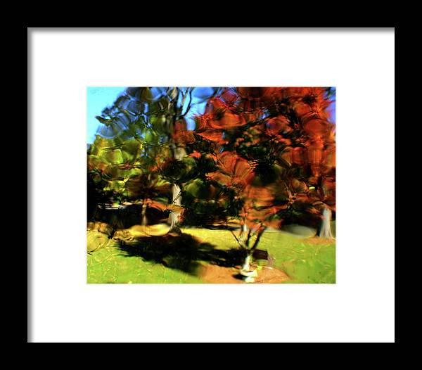 Autumn Framed Print featuring the photograph Autumn Refraction by Charles Shedd