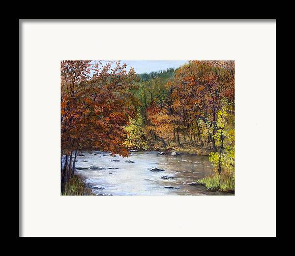 Autumn Framed Print featuring the painting Autumn River by Jack Skinner