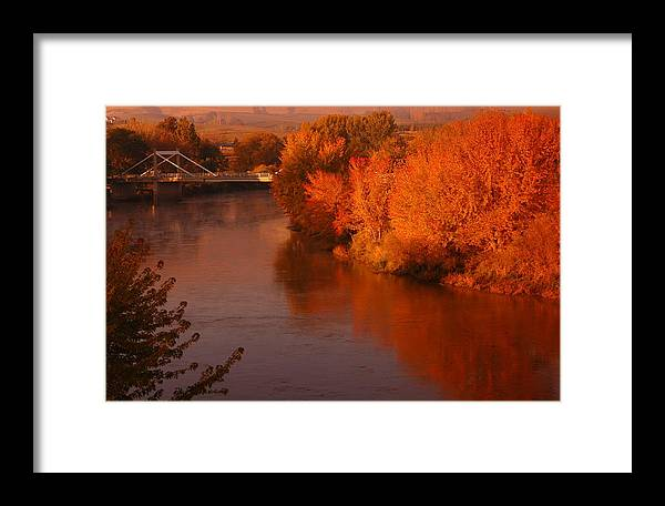 Autumn Framed Print featuring the photograph Autumn River by Owen Ashurst