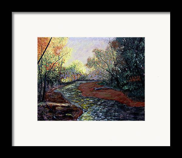 Fall Framed Print featuring the painting Autumn Road by Stan Hamilton