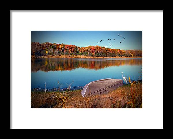 Cedric Hampton Framed Print featuring the photograph Autumn Serenade by Cedric Hampton