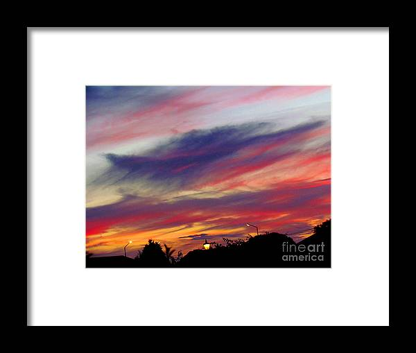 Sky Framed Print featuring the photograph Autumn skies by Joyce Woodhouse