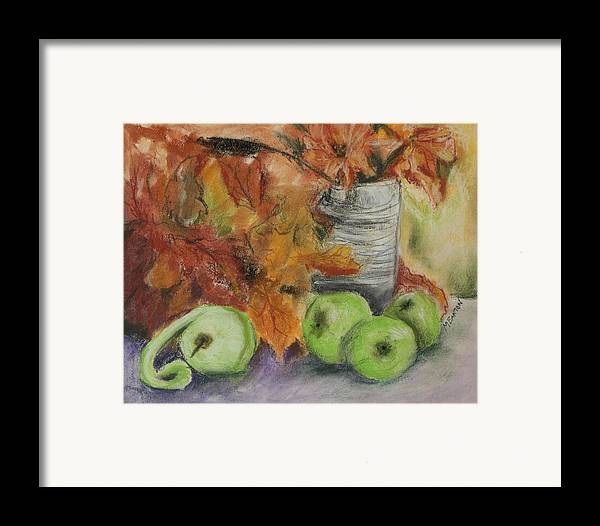Autumn Colors Framed Print featuring the painting Autumn Still Life by Marilyn Barton