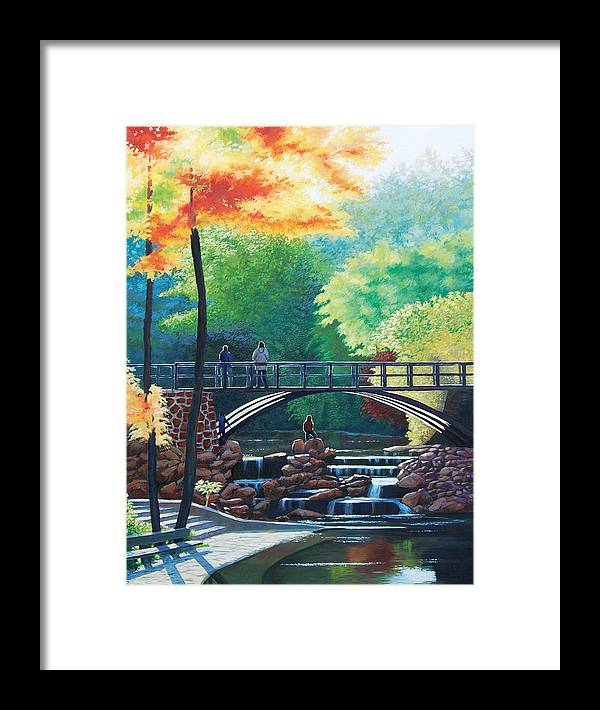 Sun Framed Print featuring the painting Autumn Sun by Deon West