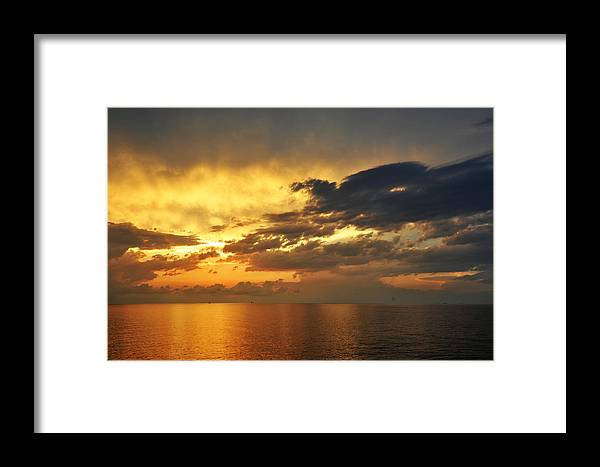 Landscape Framed Print featuring the photograph Autumn Sunrise In The Gulf by Bill Perry