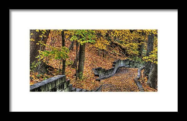 Autumn Framed Print featuring the photograph Autumn Trail - Rockyriver Metroparks by Neil Doren