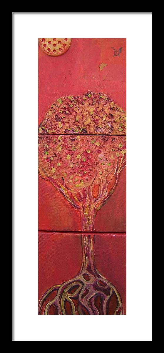 Tree Framed Print featuring the painting Autumn Tree by Angela Dickerson