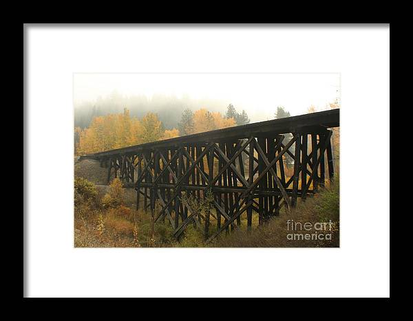 Trestle Framed Print featuring the photograph Autumn Trestle by Idaho Scenic Images Linda Lantzy