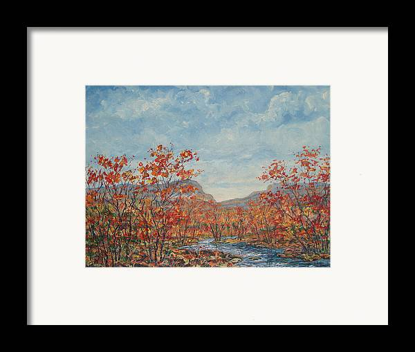 Paintings Framed Print featuring the painting Autumn View. by Leonard Holland