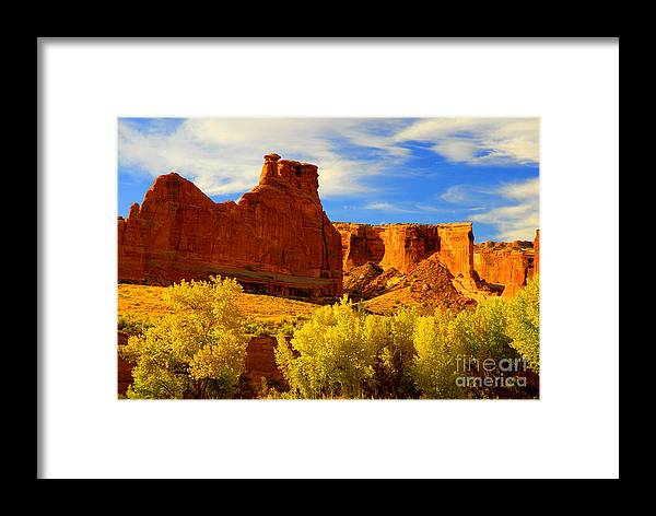 Arches Framed Print featuring the photograph Autumn Vista by Dennis Hammer