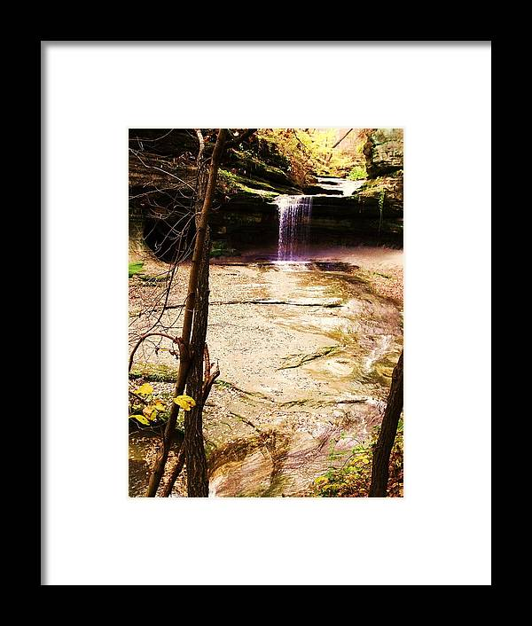 Waterfall Framed Print featuring the photograph Autumn Waterfall II by Anna Villarreal Garbis