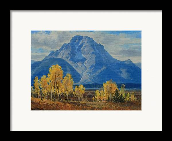 Framed Print featuring the painting Autumn-willow Flats by Lanny Grant