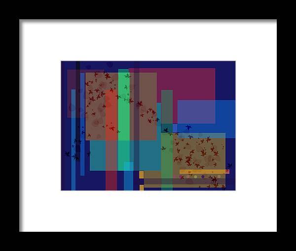 Autumn Framed Print featuring the digital art Autumn Wind by Helene Champaloux-Saraswati