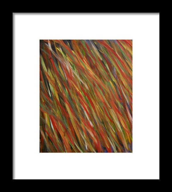 Abtracts Framed Print featuring the painting Autumn Wind by Leslie Revels