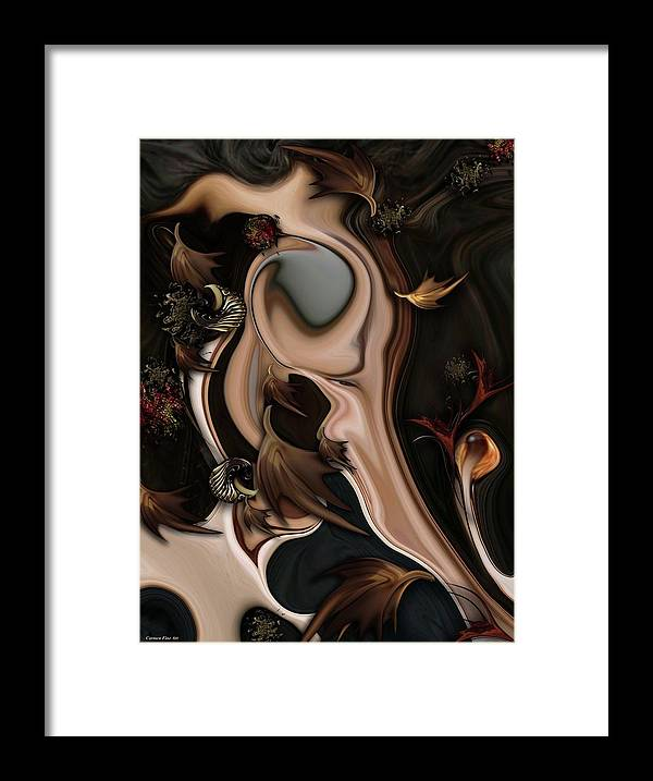 Autumnal Framed Print featuring the digital art Autumnal Material by Carmen Fine Art