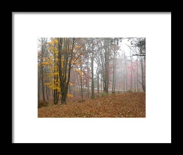 Autumn Framed Print featuring the painting Autumnal Mist by Paul Sachtleben