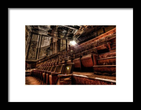 Aj Photographic Art Framed Print featuring the photograph Available Seating by John Hoey