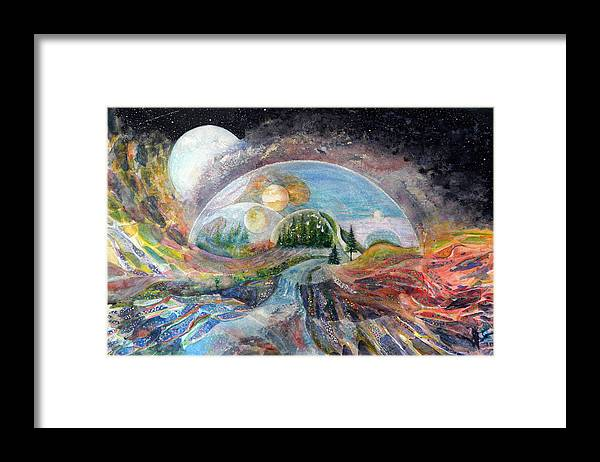 Fantasy Framed Print featuring the painting Avatron by Carole Overall
