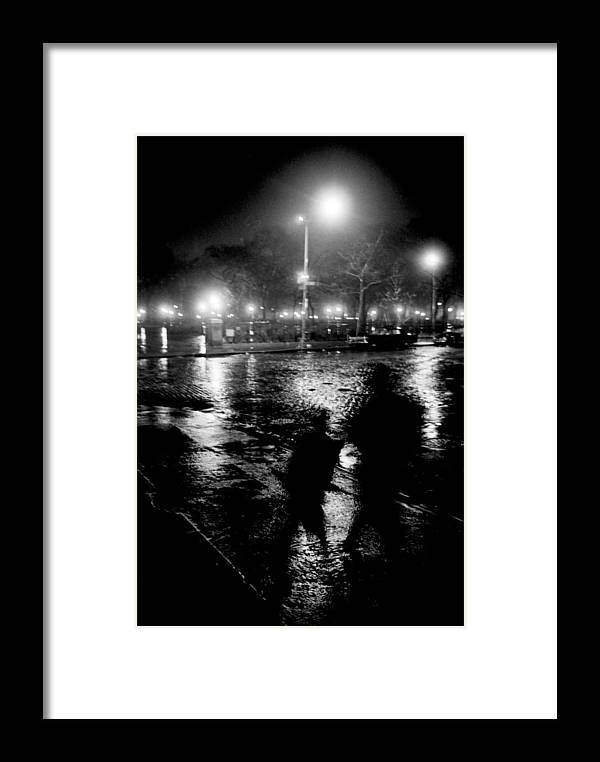 Night Framed Print featuring the photograph Avenue B At 9th Street by Wesley Waites