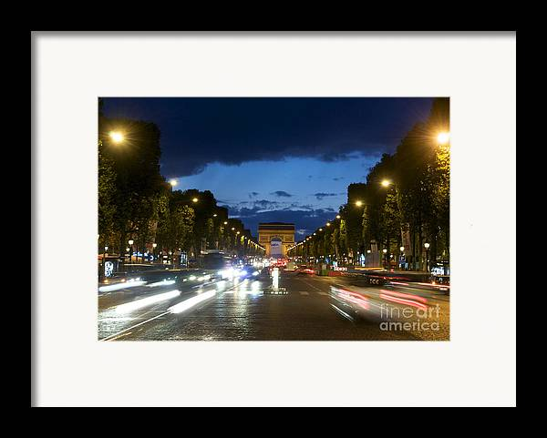 Paris Framed Print featuring the photograph Avenue Des Champs Elysees. Paris by Bernard Jaubert
