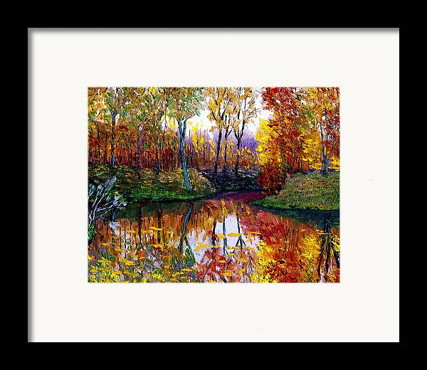 Lake Framed Print featuring the painting Avon by Stan Hamilton