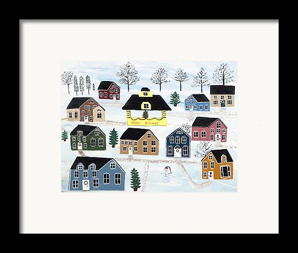 Christmas Framed Print featuring the painting Awaiting Christmas In Glennawexton Park by Mike Filippello