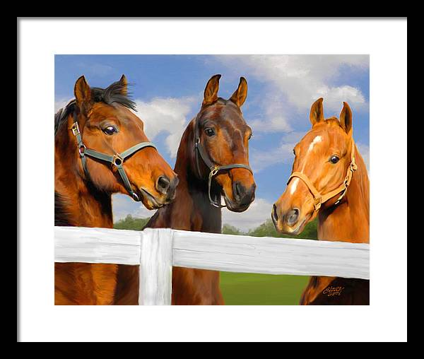 Saddlebred Framed Print featuring the painting Awaiting Home by Elzire S