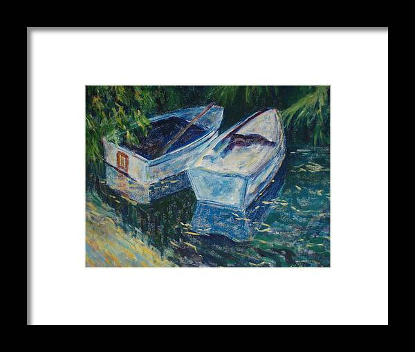 Monets Gardens Framed Print featuring the painting Awaiting by Tara Moorman