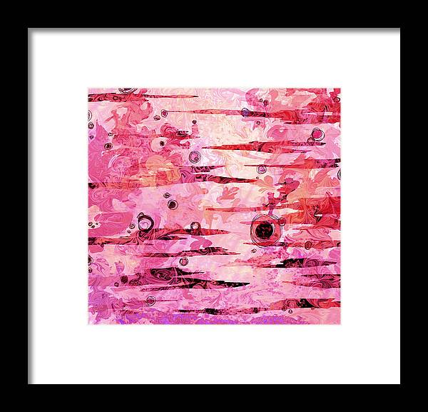 Abstract Framed Print featuring the digital art Awakened by Rachel Christine Nowicki