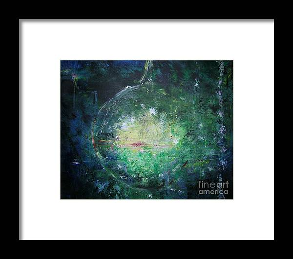 Abstract Framed Print featuring the painting Awakening Abstract II by Lizzy Forrester