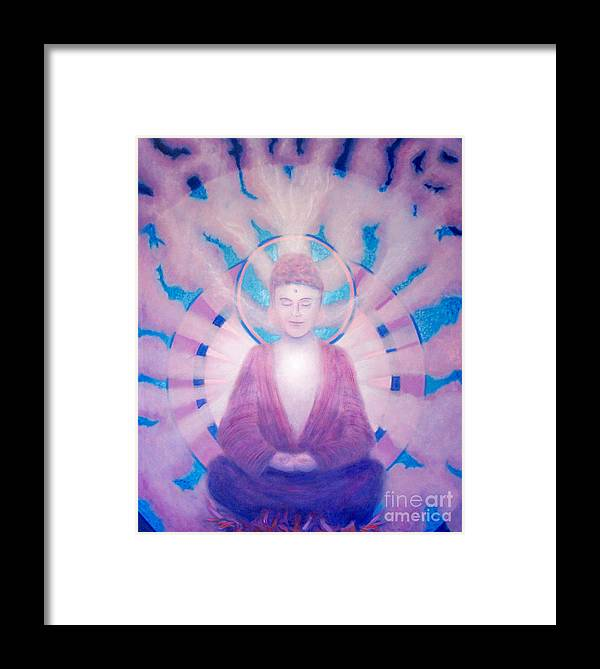 Buddha Framed Print featuring the painting Awakening Buddha by Brian Commerford