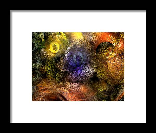 Abstract Framed Print featuring the digital art Awakening by Casey Kotas