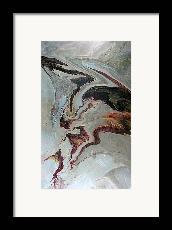 Abstract Framed Print featuring the painting Awakening by Patrick Mock