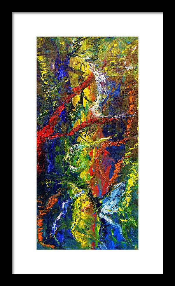 Framed Print featuring the painting Awakening by Ron Klotchman