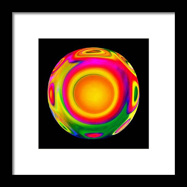 Sphere Framed Print featuring the mixed media Awareness by Jacqueline Migell
