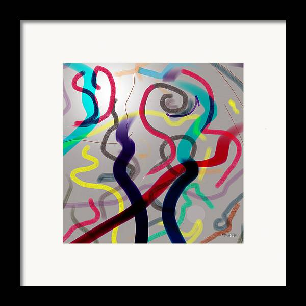 Abstract Framed Print featuring the painting Awareness by Robert Henne