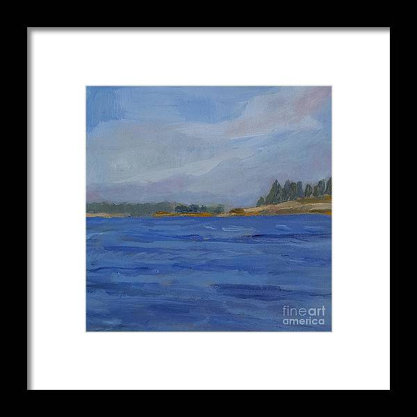 Maine Framed Print featuring the painting Away by Colleen Kidder