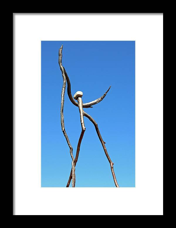 Bronze Framed Print featuring the sculpture Awesome by Thor Sigstedt