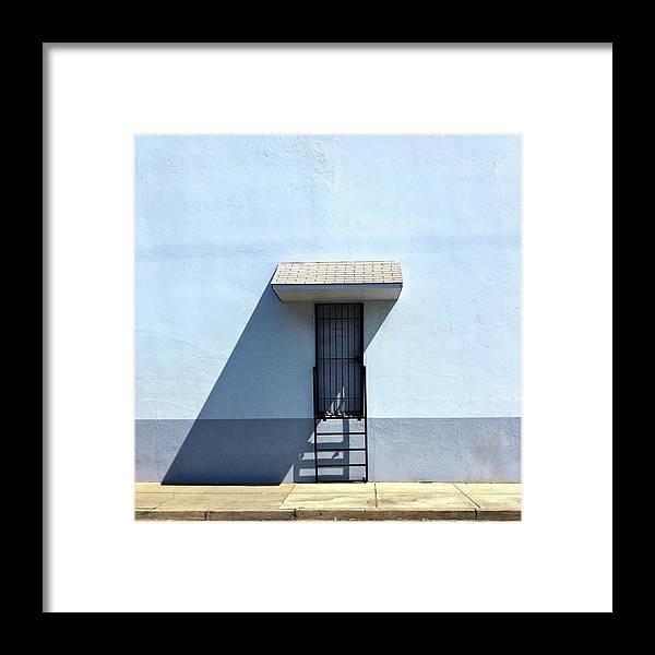 Framed Print featuring the photograph Awning Shadow by Julie Gebhardt