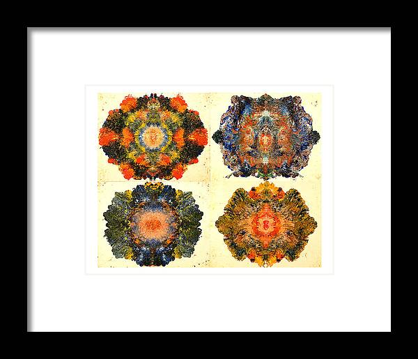 Abstract Framed Print featuring the painting Axiology by Howard Goldberg