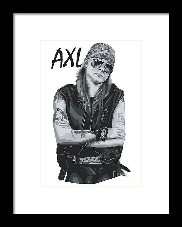 Axl Rose Framed Print featuring the digital art Axl Rose by Geek N Rock