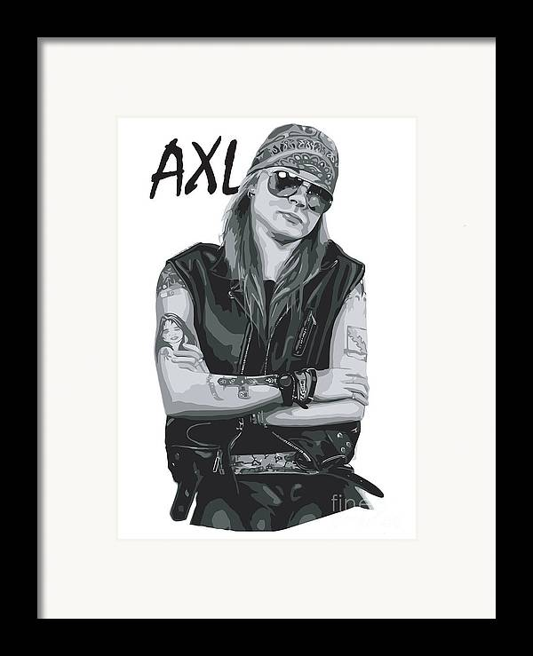 Axl Rose Framed Print featuring the digital art Axl Rose by Caio Caldas