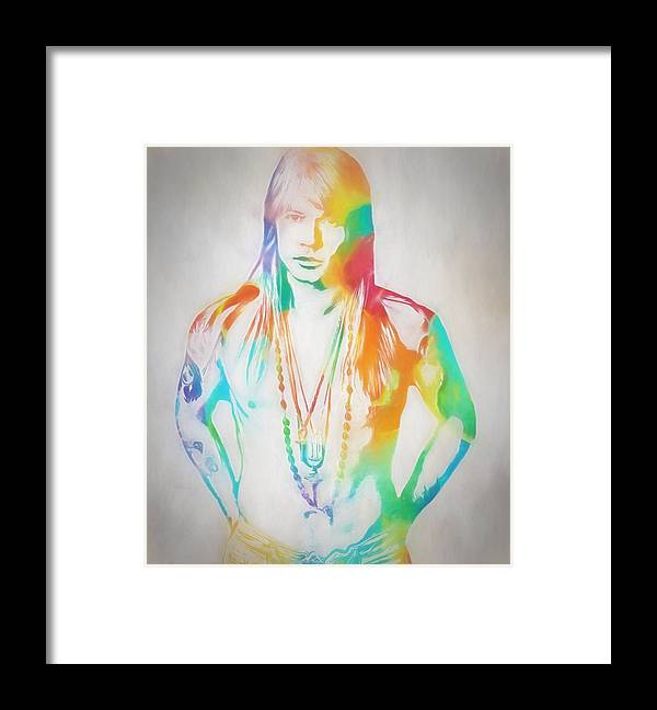 Axl Rose Framed Print featuring the painting Axl Rose by Dan Sproul