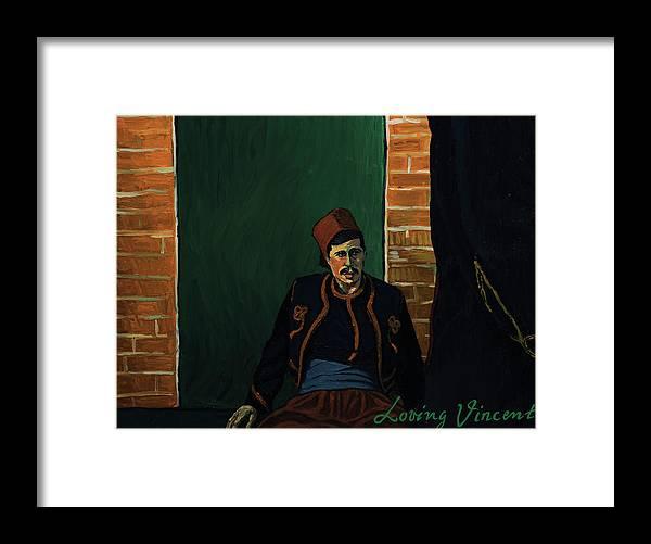 Framed Print featuring the painting Ay sir by Natasa Efstathiadi