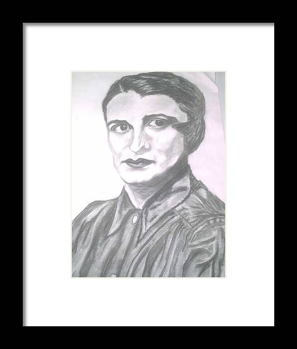 Ayn Rand Framed Print featuring the painting Ayn Rand by Nancy Caccioppo