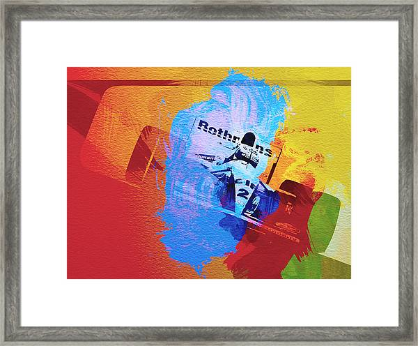 Ayrton Senna Large Poster Art Print Black /& White Card or Canvas