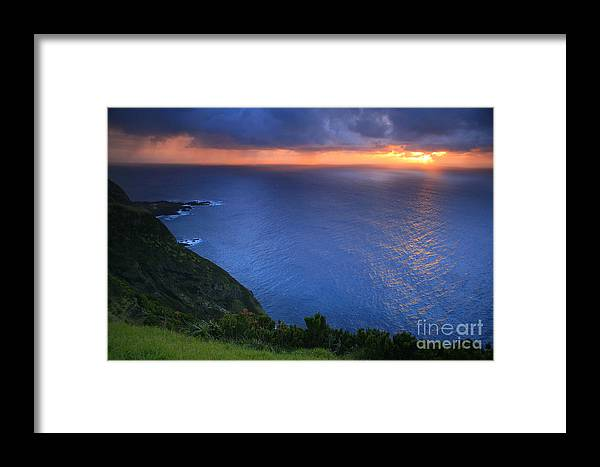 Island Framed Print featuring the photograph Azores Islands Sunset by Gaspar Avila