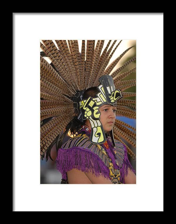 Dancer Framed Print featuring the photograph Aztec Dancer by Dennis Hammer